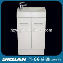 Kleine Australien weiße PVC-Eck-Badezimmer-Schrank
