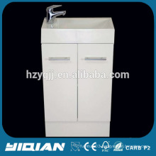 Small Australia White PVC Corner Bathroom Cabinet