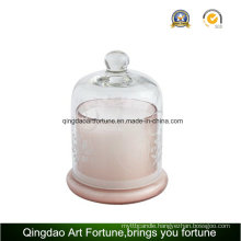 Luxury Glass Jar Candle with Glass Lid