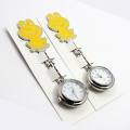Fashion Yellow Metal Nurse Watch