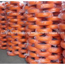 Ruedas de espuma de poliuretano utilizadas en carretilla con 16inch 4.00-8 línea recta