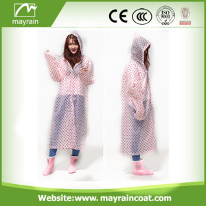 Imperméable en PVC Fashion à pois