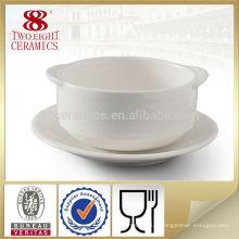 Grand bol à soupe chinois en céramique à deux poignées