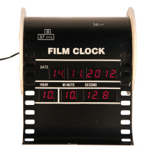 Mini reloj digital con alarma de película vertical