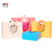 Heavy duty package with handle shopping gift tote bag