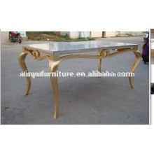 Soild mesa de jantar de eventos de madeira D1009