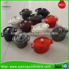 Batterie de cuisine Kingway antiadhésive en fonte émaillée