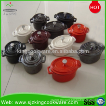 Kingway non-stick enamel cast iron cookware set