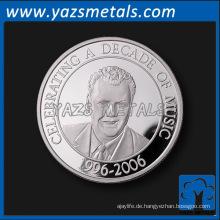 Custom Souvenir Silbermünze