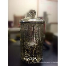 Fancy Electroplate Glass Candle Jar