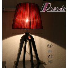 Decorative Red Fabric Bedsides Bedroom Lighting