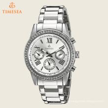 Women′s Round Silver Dial Three Hand Quartz Bracelet Watch 71238