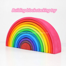Bloques de construcción de arco iris de silicona bloques de construcción arqueados