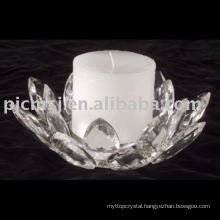 Low cost Original Lotus Flowers Shaped Crystal Holder For Home Decoration