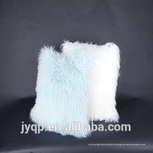 2018 nouveau style mongol agneau peau tissu housse de coussin