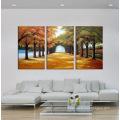 Peinture à l'huile de paysage de toile de haute qualité
