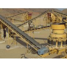 Gebogener Bandförderer für die Förderung von Mineralien