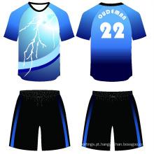 2017 novo design 100% poliéster uniformes escolares agasalho de futebol sublimação camisa de futebol jersey