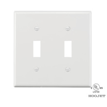 Europe style for Screwless Wall Plate PVC Waterproof Plastic Electrical White Wall Switch Plates supply to Samoa Importers