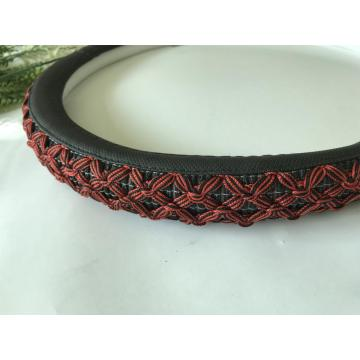 anti-slip flax famous design steering wheel cover