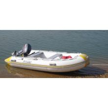 Barco inflável de fibra de vidro com casco rígido de 3,6 m para venda