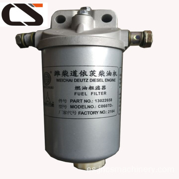 Weichai Diesel Engine Fuel Filter 612600081334 para SD22