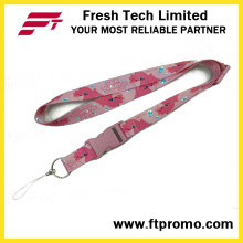 Made in China Lanyard mais barato poliéster com o seu logotipo