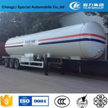 Reboque do tanque de 3 eixos LPG semi para o transporte de gás do LPG