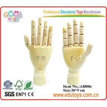 Modelo de madera de la mano