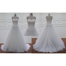 Chiffon Court Train Bridal Dress