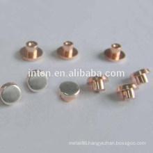 Electrical component bimetal contact rivet