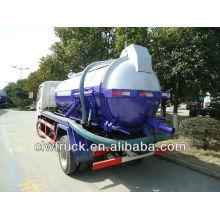 Dongfeng 3000L mini cisterna de succión de aguas residuales