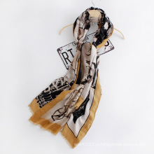 Мода женщин напечатанная вискоза Шелковый шарф (YKY1127)