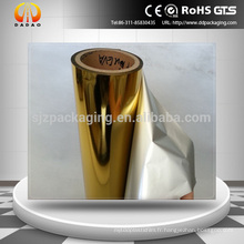 Silver And Gold Metal EVA Revêtue Pet Hot Thermal Lamination Film avec performance d'impression