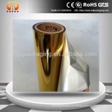 Серебряный и золотой металл EVA покрытием Pet Горячие тепловой пленки ламинирования с печатью производительности