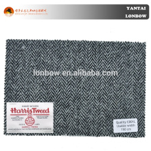 Hot selling fine quality grey herringbone woolen woven coat fabric