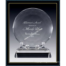 "Faceted Crystal Disk Award Plaques for Singer 6"" Dia (NU-CW722)"