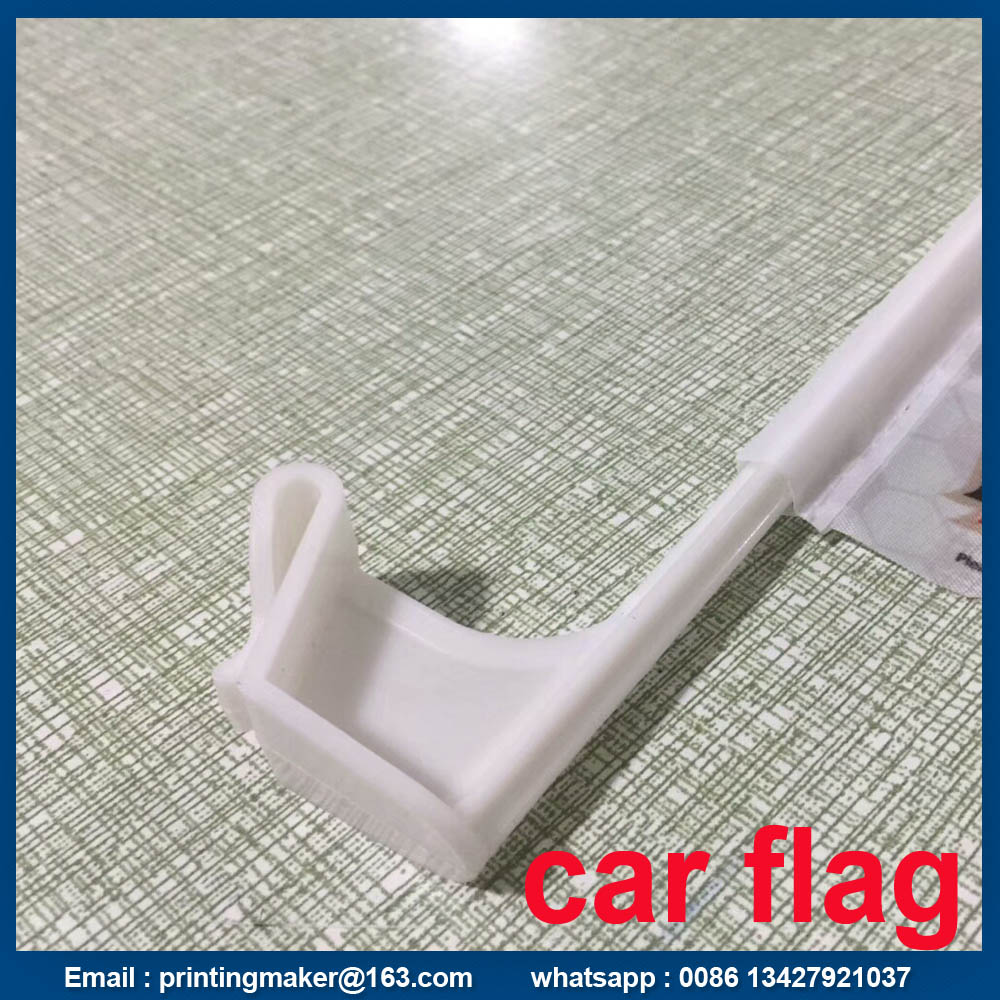 Car Flag With Plastic Pole