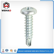 pan head or button head self drilling screw