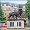 Outdoor Garten Dekoration Metall Bronze Sentry Lions Statue