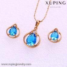 61976-Xuping Fashion Woman Set de bijoux avec plaqué or 18 carats