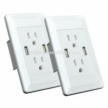 Receptáculo USB de alta gama 4.2A, cuatro tomacorrientes USB de 2.4A 4.2AMP / 21W total con placa de pared