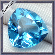 Piedra natural semipreciosa encantadora del azul de Topaz