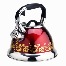 Rojo y flor de la estufa tetera silbando