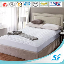 Protector de colchón elástico de la cama de White del hotel de la alta calidad Protector elástico del colchón