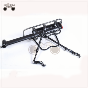 Universal quick release mountain bike rear rack with reflector