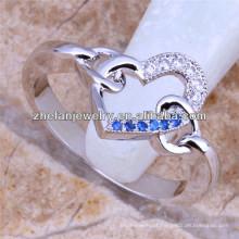 reino corações anel micro conjunto anel de diamante anel de boa aparência