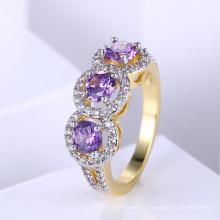 Популярные тона РПО позолоченные ювелирные изделия Золотое кольцо дизайн для женщин