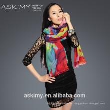Color arco iris 100% bufanda de cachemira