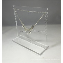 Jewellery Shop Simple Design Creative Handmade Clear Acrylic Double Side Commercial Jewelry Display